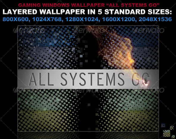 Editable Wallpaper in 5 sizes - Tech / Futuristic Backgrounds
