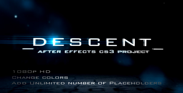 After Effects Project - VideoHive DESCENT 110117