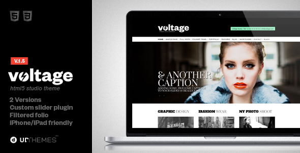 Voltage Minimalist Studio Html 5 Template