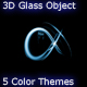 3D Object Glassy Effect - 5 Color Themes - GraphicRiver Item for Sale