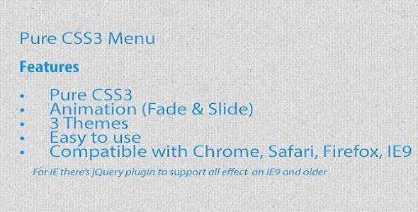 CodeCanyon Pure CSS3 Menu 3110466