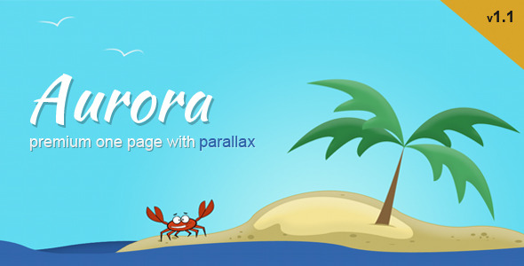 Aurora - Premium One Page Template with Parallax