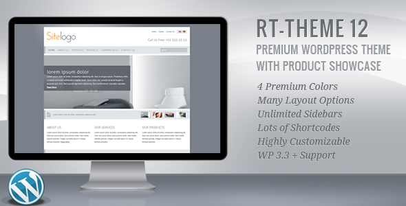 ThemeForest RT-Theme 12 Business Theme 4 in 1 For Wordpress 153100