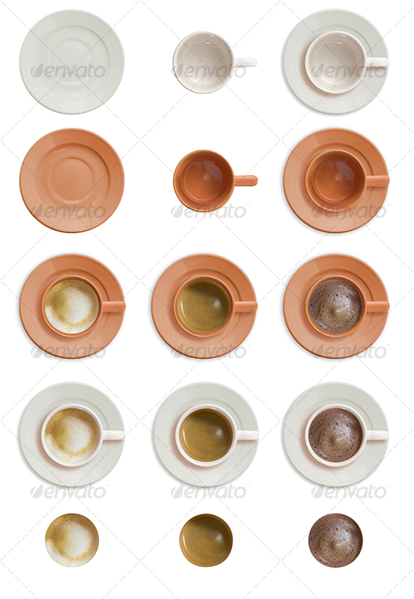 Coffee Cup Set - Food &amp; Drink Isolated Objects