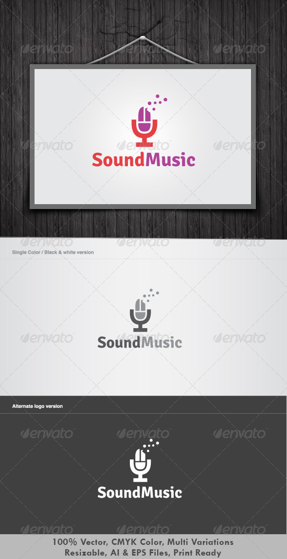 Sound music logo - Objects Logo Templates