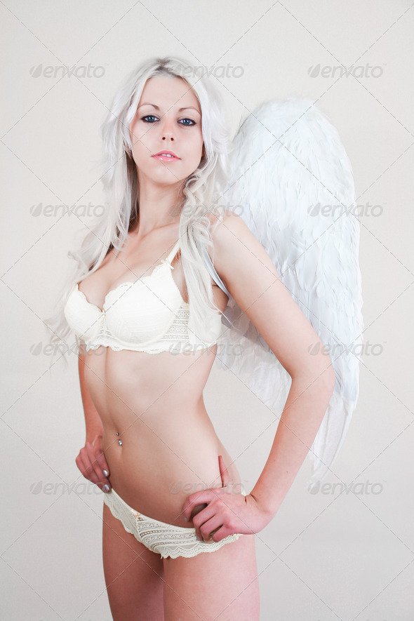 Sexy Lingerie Angel - Stock Photo - Images
