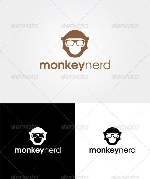 GraphicRiver Monkey Nerd Logo Template 3114236