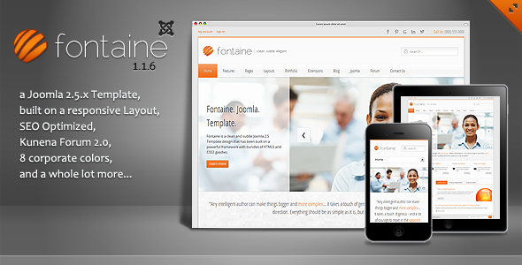 ThemeForest Fontaine Clean Responsive Joomla Template 2593291