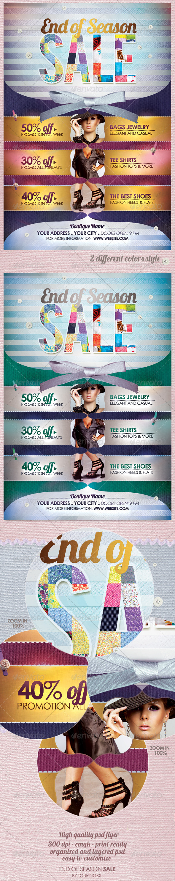 End of Season Sale Flyer Template - Commerce Flyers