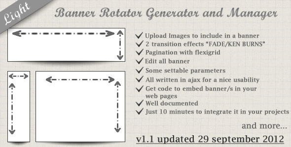 CodeCanyon Banner Rotator Generator And Manager Light 2600593