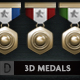 3D ACHIEVEMENT MEDALS AND I-Graphicriver中文最全的素材分享平台