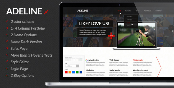 ThemeForest Adeline Multipurpose PSD Template 3119075