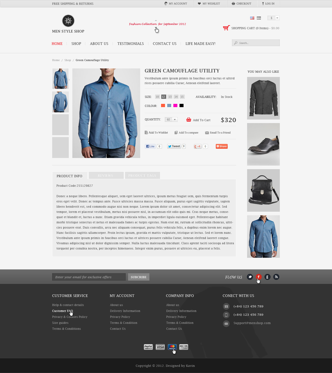 Men Shop Style - PSD