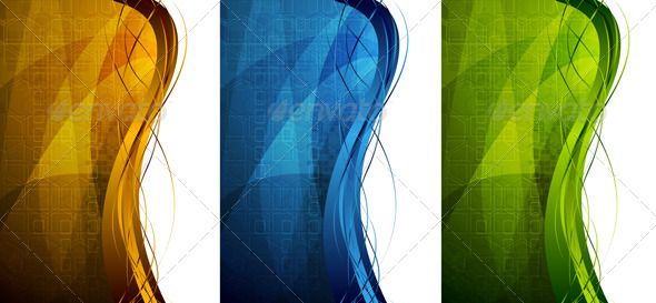 Bright tech banners - Backgrounds Decorative
