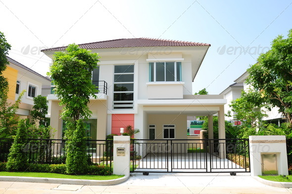 Modern house in thailand stock photo by yeyen1 photodune for Thai modern house style