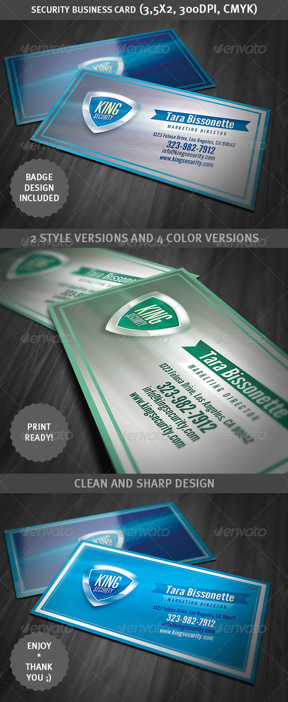 Security Shield Business Card - Creative Business Cards