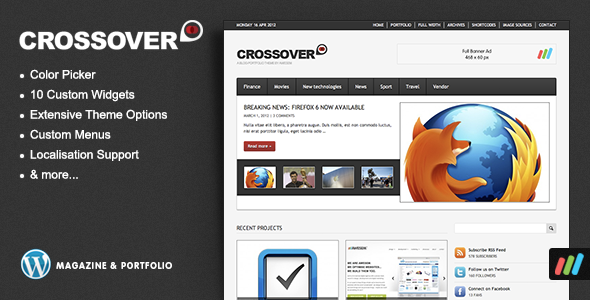 Crossover - Premium Magazine / Portfolio Theme - Blog / Magazine WordPress