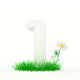 Set Huge Digit on a Grass - GraphicRiver Item for Sale