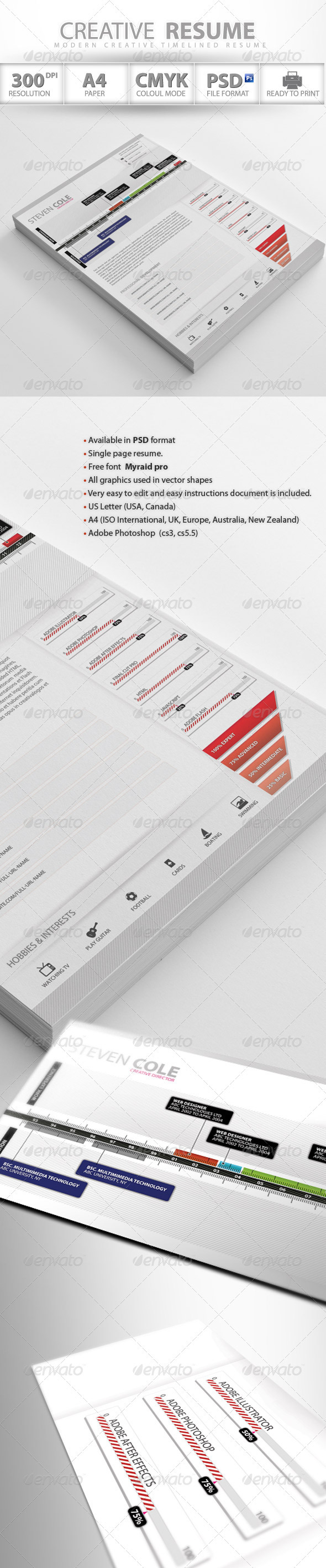 GraphicRiver Professional Creative Resume 2983521