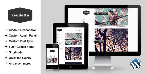 Vendetta - Responsive Portfolio Wordpress Theme