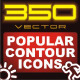 350 Contour Icons (include CSH, PSD, EPS...) - GraphicRiver Item for Sale