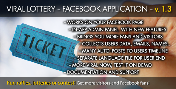 CodeCanyon Viral Lottery Facebook App 2510346
