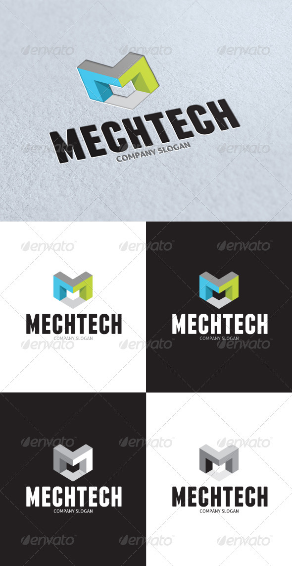 GraphicRiver Mechanic Technical Logo 3136001