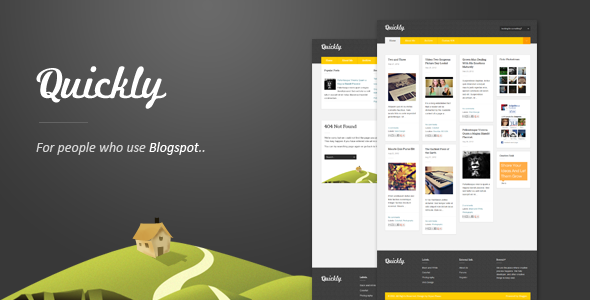 Quickly - Responsive Blogger Template - Blogger Blogging
