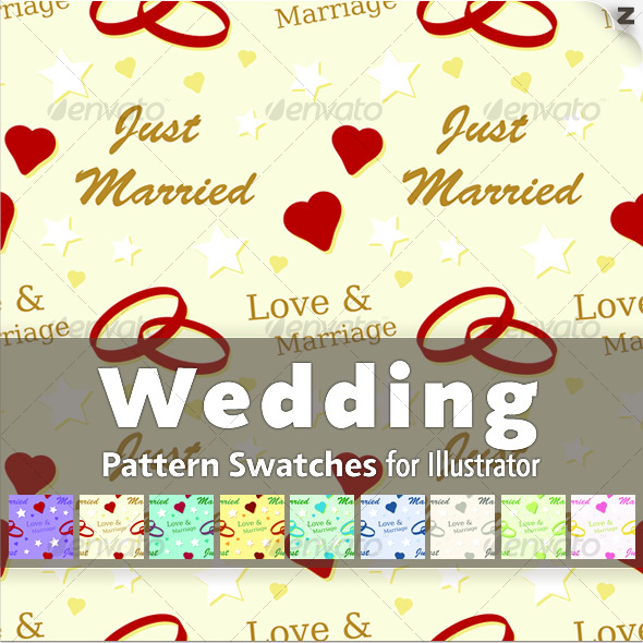 10 Wedding Pattern Swatches - Miscellaneous Textures / Fills / Patterns