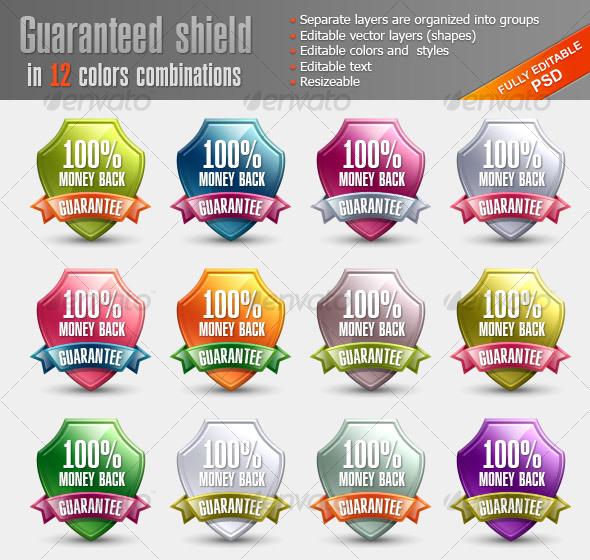 GraphicRiver Glossy Guaranteed Shield 110105