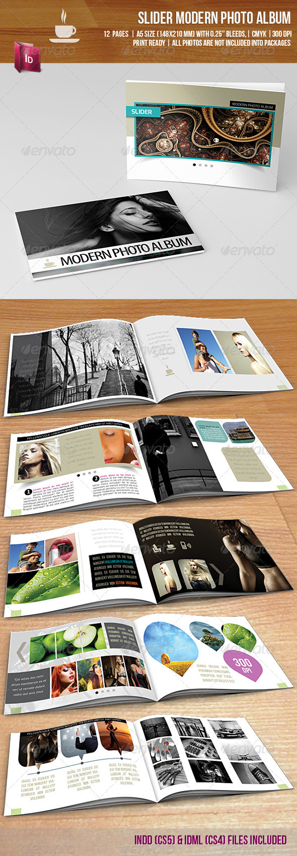 Slider Modern Photo Album - Photo Albums Print Templates