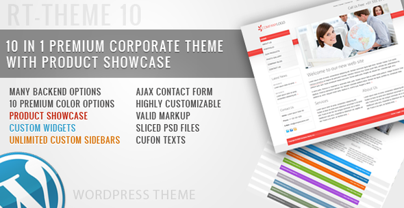 ThemeForest RT-Theme 10 Business Theme 10 in 1 For Wordpress 120827