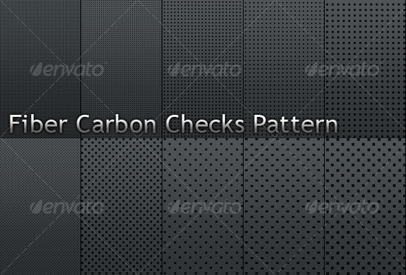 Fiber Carbon Checks Pattern - Vol.1 - Textures / Fills / Patterns Photoshop