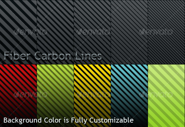 Fiber Carbon Lines Pattern - Vol-1 - Textures / Fills / Patterns Photoshop