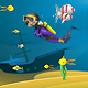 Diver and aquarium animation - ActiveDen Item for Sale