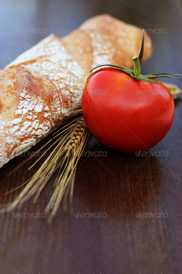 Bread With Tomato - Stock Photo - Images