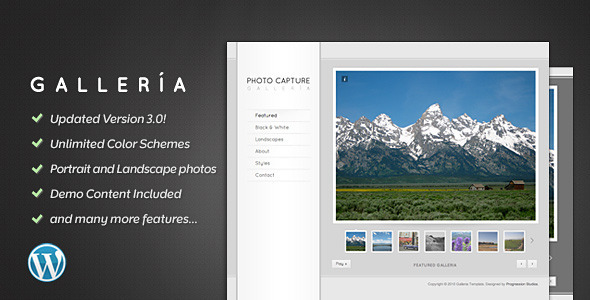ThemeForest Galleria Photography and Portfolio Theme 153121