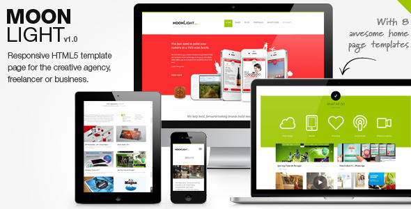 MoonLight > Responsive WordPress Theme  - Portfolio Creative