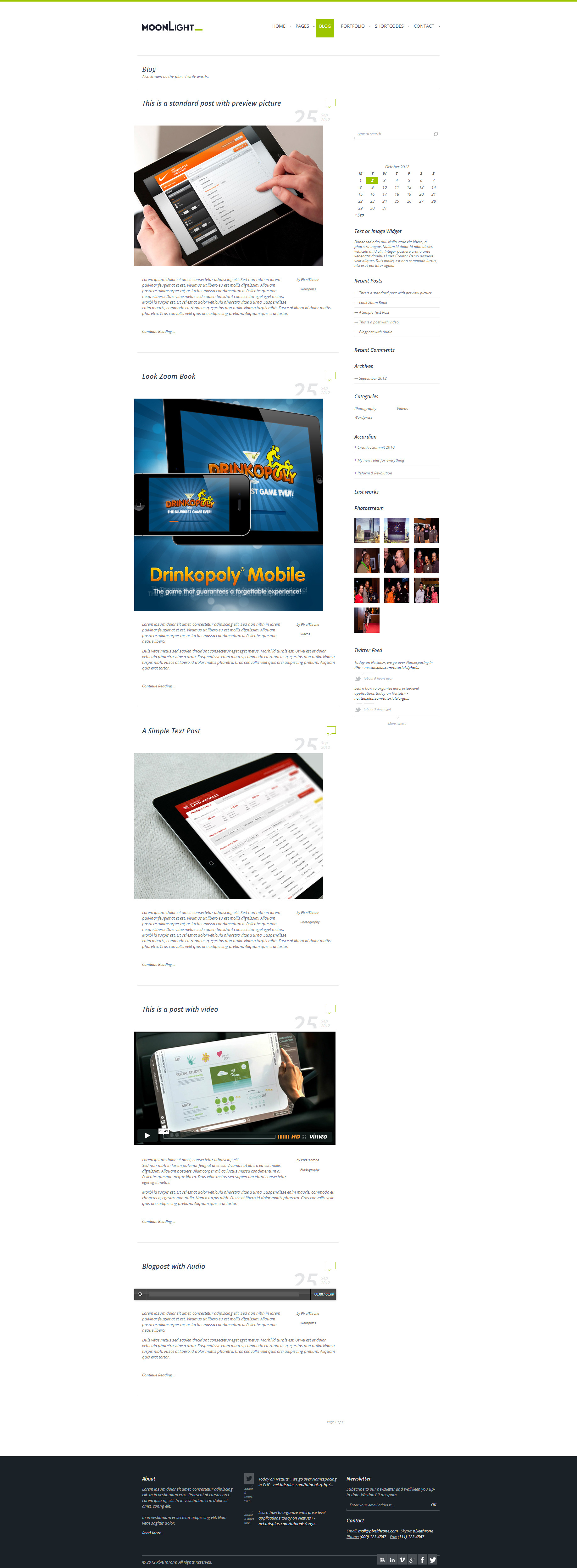 MoonLight &gt; Responsive WordPress Theme 