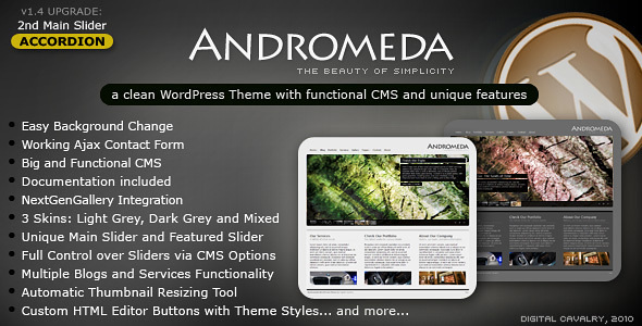 ThemeForest Andromeda WordPress The Beauty of Simplicity 107876