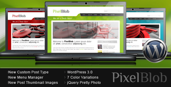 PixelBlob - Portfolio and Business WordPress Theme