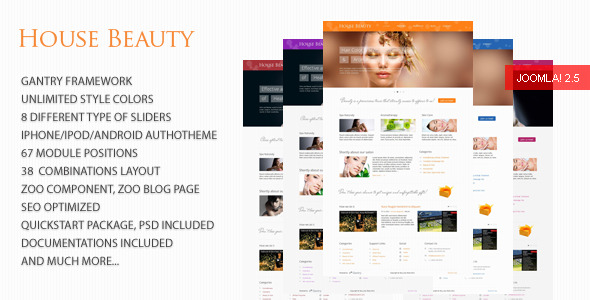 House Beauty - Joomla Template
