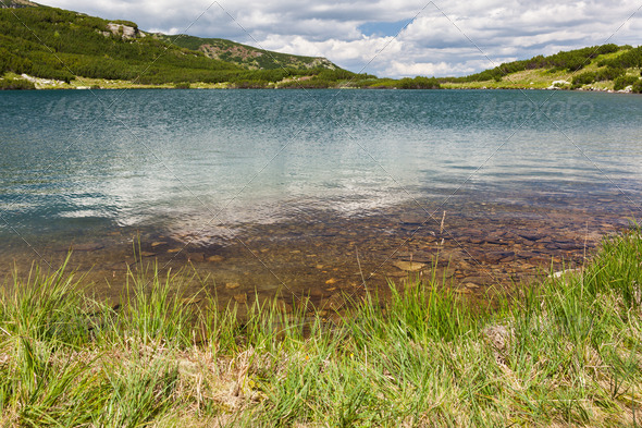 Lake Calcescu in Romania - Stock Photo - Images