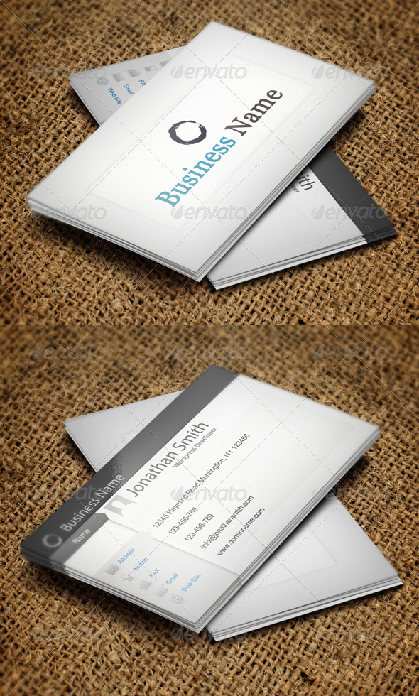 Wordpress Business Card - Corporate Business Cards