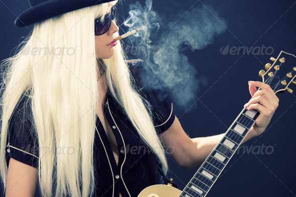 rock babe - Stock Photo - Images