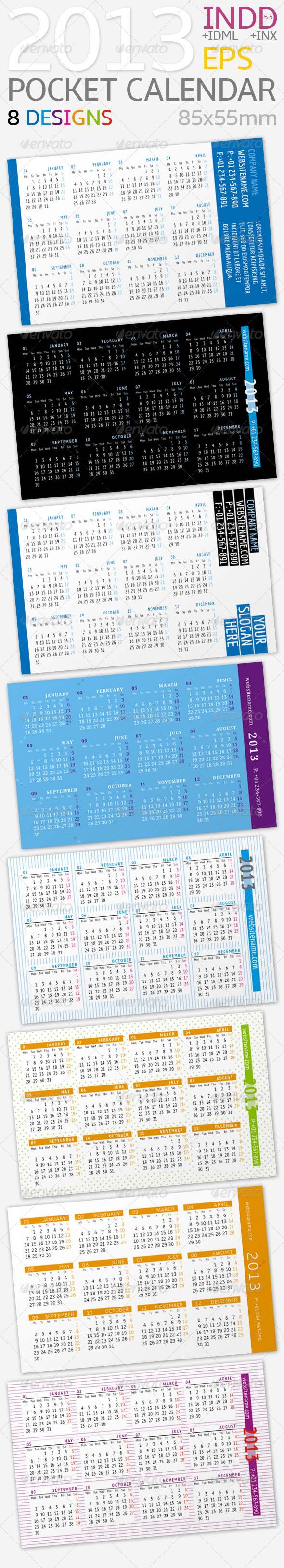GraphicRiver 2013 Pocket Calendar 3145841