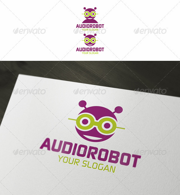 Audio Robot - Objects Logo Templates