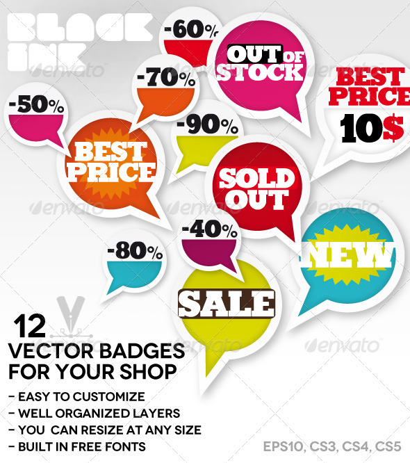 Offer Vector Badges - Decorative Symbols Decorative