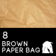 8 Hi-Res Brown Paper Bag Textures - GraphicRiver Item for Sale