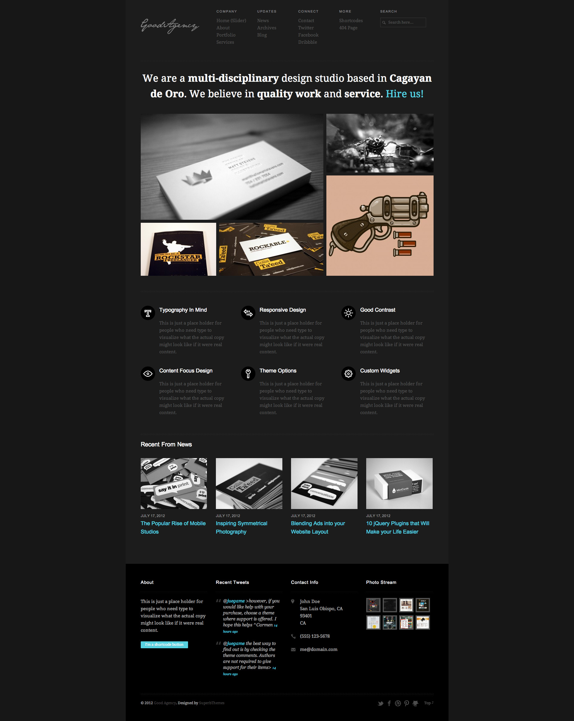 GoodAgency: Minimal &amp; Responsive Wordpress Theme - 